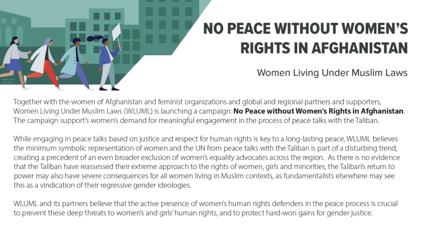 Flyer (English): No Peace Without Women's Rights in Afghanistan
