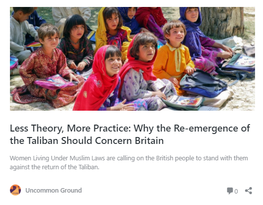 Less Theory, More Practice: Why the Re-emergence of the Taliban Should Concern Britain