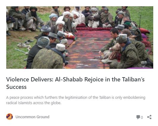 Violence Delivers: Al-Shabab Rejoice in the Taliban's Success