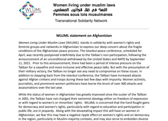 WLUML Solidarity Statement on Afghanistan