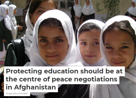 Protecting education should be at the centre of peace negotiations in Afghanistan